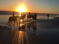 A caballo al atardecer en Cadiz