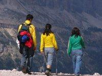 路线徒步旅行者与专业人士