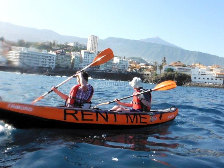 Aguas tranquilas en kayak