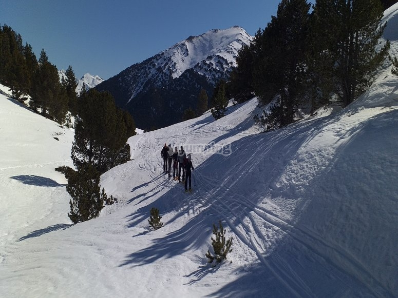 Percorso con racchette da neve