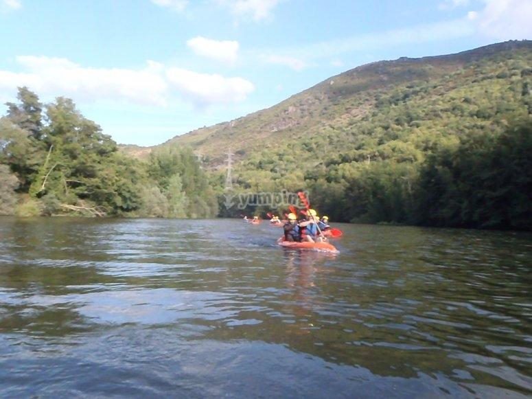 rutas tranquilas con el kayak