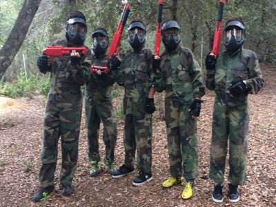2h child paintball unlimited balls in Barcelona