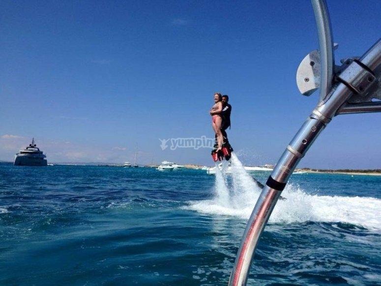Flyboard con el instructor