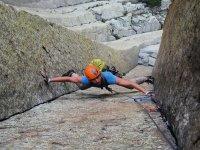 在加泰罗尼亚的地方攀岩