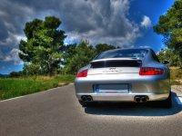 Parte trasera del Porsche