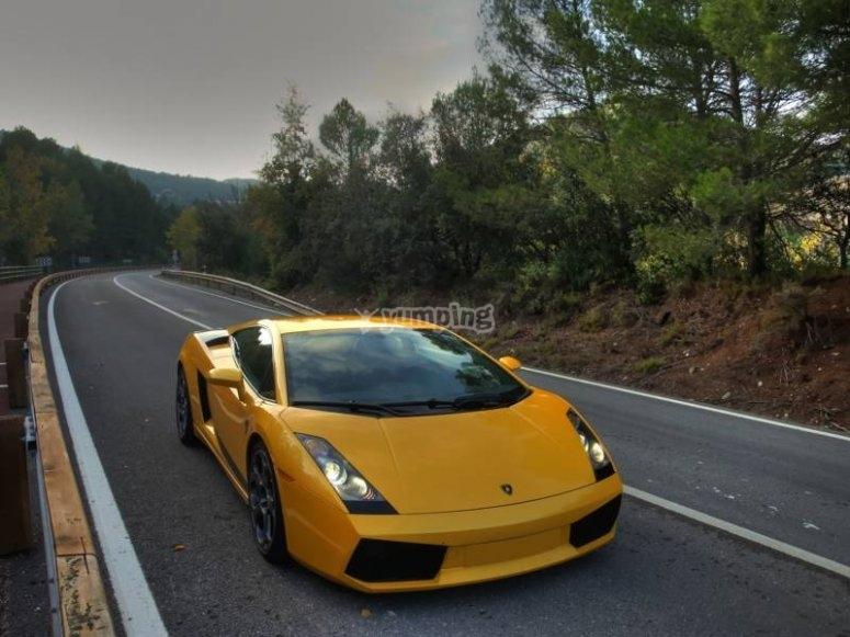 Lamborghini en carretera