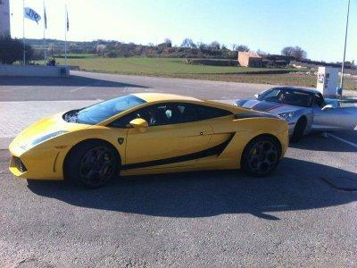 Lamborghini pilota a Barcellona 7 chilometri