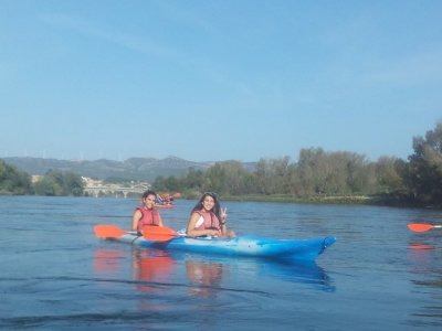 Kayaking from Vinebre to Mora, schools, under 14