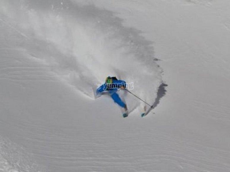 Esquiando en Grandvalira