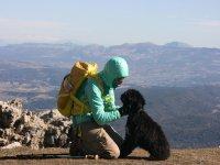 在MontesdeMálaga自然公园与狗一起旅行