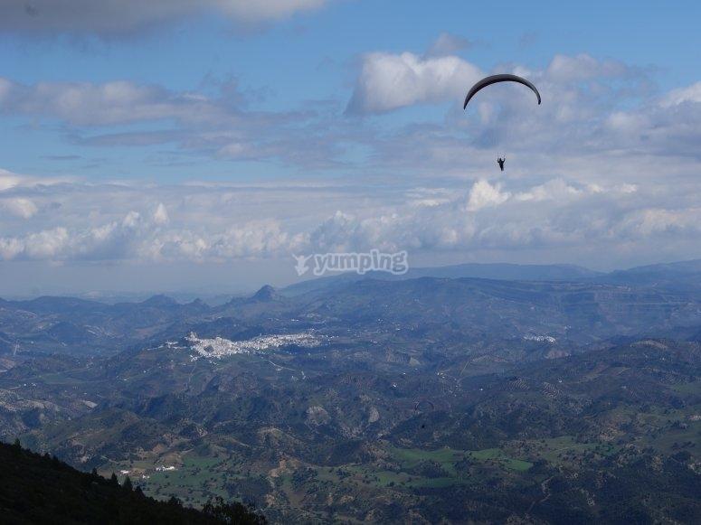 全景滑翔伞飞行