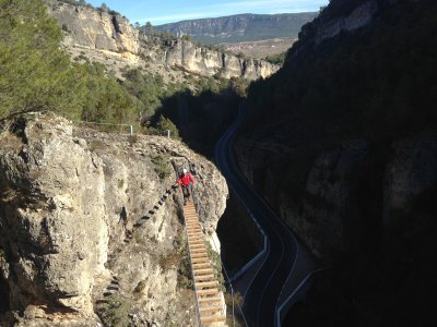 Via Ferrata de Priego cerca de Madrid medio día