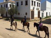 Visita El Rocio a caballo