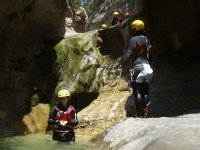 Canyoning with monitor
