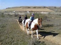 Equitazione lungo il Guadarrama