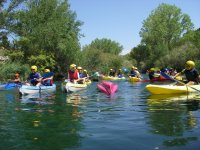 Group of canoes