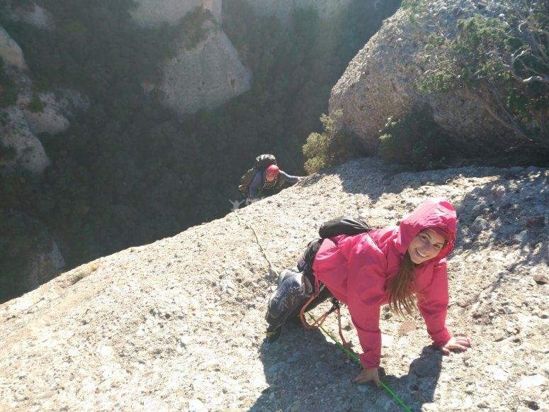 Escalando antes del parapente