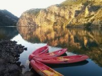 Our canoes waiting for you for adventure