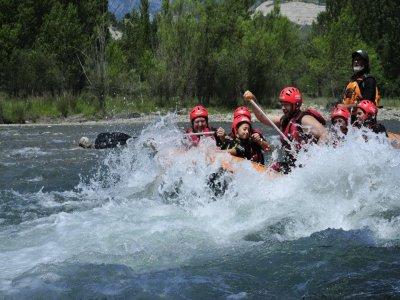 Rafting en el río Ara en Ordesa tramo fuerte