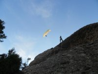 Escalada/Ferrata y vuelo en parapente Montserrat
