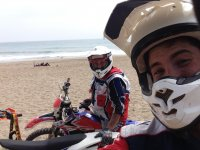 Enduro junto a la playa