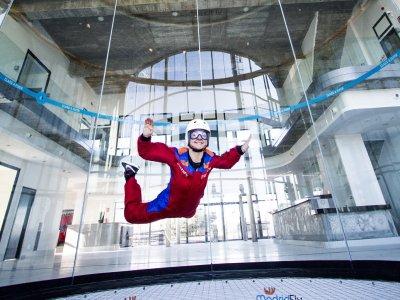 Probar túnel de viento en Madrid con fotos