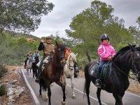 Paseo familiar a caballo