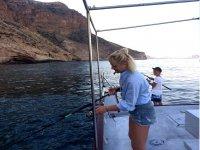Disfrutando de un dia de pesca