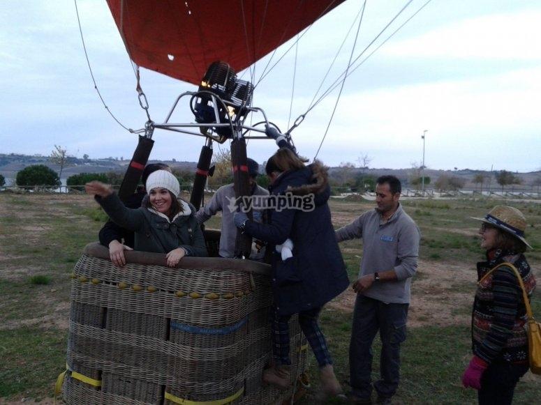 Subiendo al globo