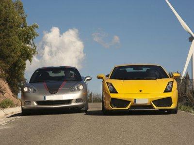 Pilotar Lamborghini y Corvette en Madrid 40 km