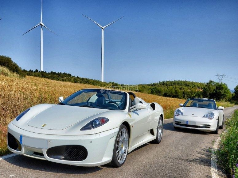 Guida una Ferrari e una Porsche