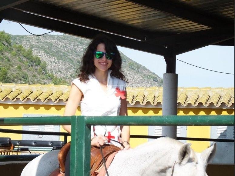 Preparándose para iniciar la ruta a caballo Gandía