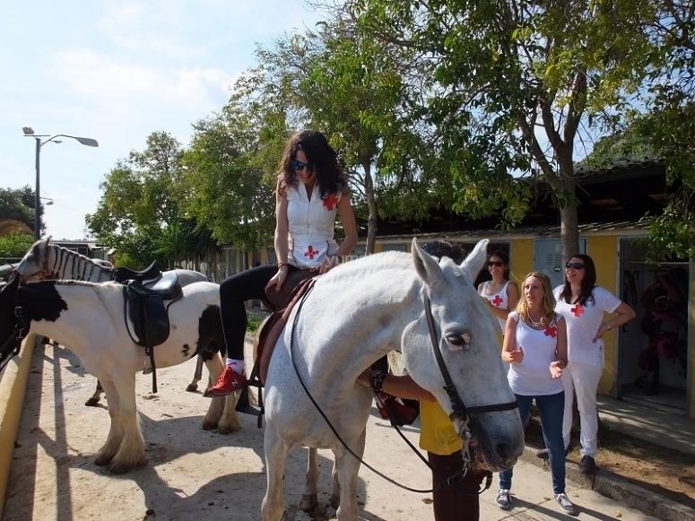 Starting the horseback route