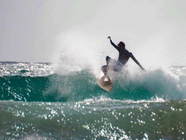 Enjoy surfing