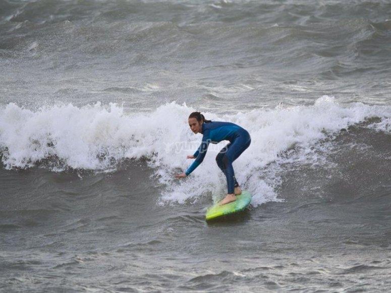 Surfing in Mazarron