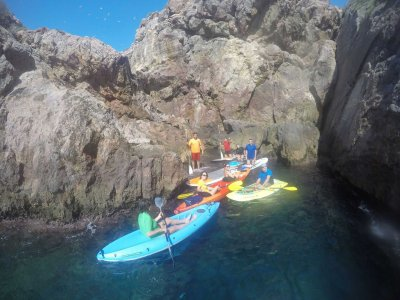 Single kayak rental in Mazarrón 2 hours