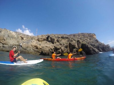 Tandem kayak rental in Mazarrón 2 hours