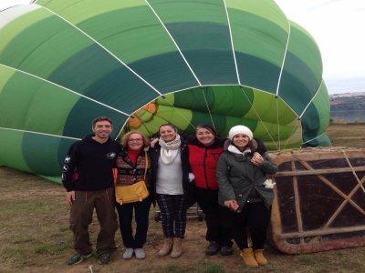气球乘坐Arcos de la Frontera和早餐
