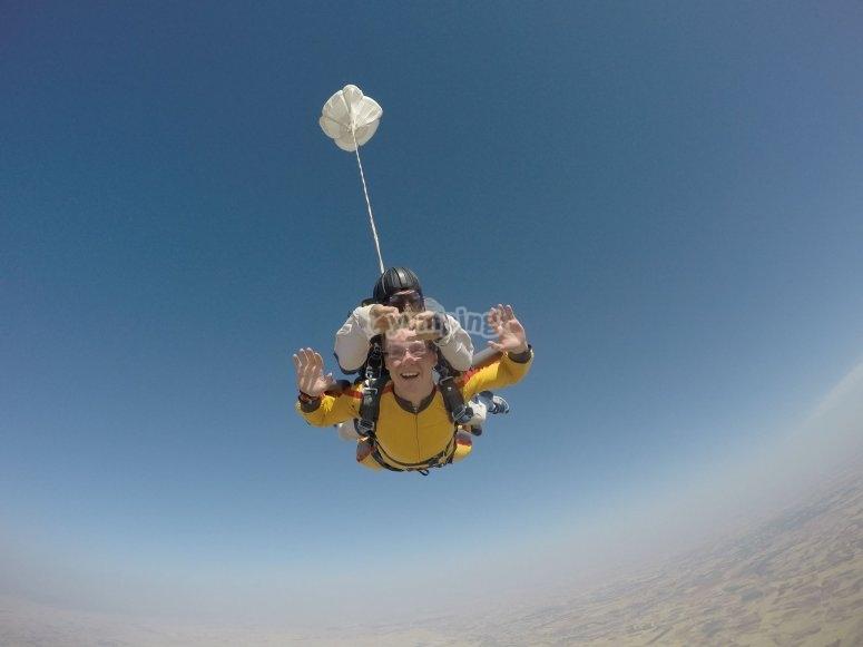Durante el salto