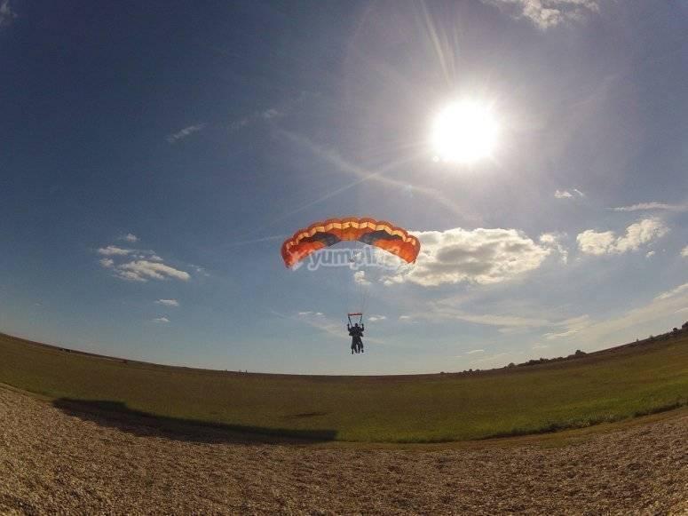 Moment of landing