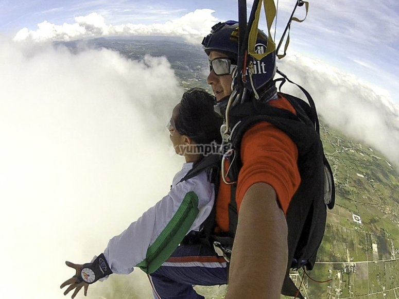 Photos during the jump