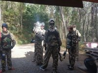 Charla antes del combate de paintball