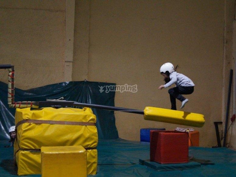 Saltando el obstaculo
