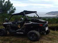 Buggy ready for the route through Fisterra
