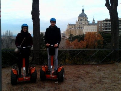 Segway route in Madrid. Valentine's Day