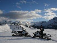 Ruta guiada en moto de nieve