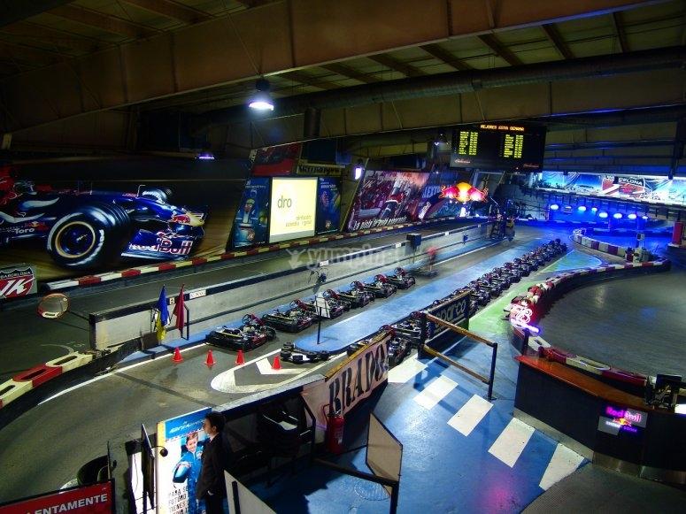 Circuito de karting indoor