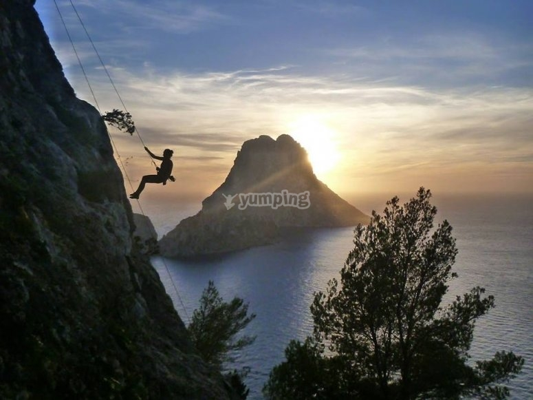 Rappel en Ibiza