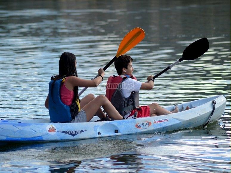 Actividades con los kayaks