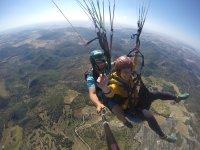 Tandem paragliding flight through Cádiz